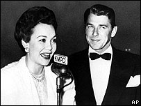 Jane Wyman with husband Ronald Regan in 1945