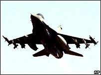 US F-16 fighter jet - file photo
