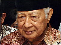 Former Indonesian President Suharto (file photo)