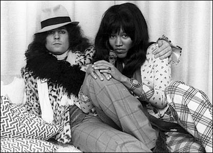 Marc Bolan and Gloria Jones, by photographer Keith Morris (courtesy of Redferns Music Picture Gallery)