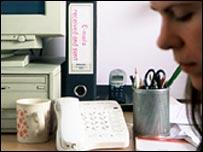A worker's desk