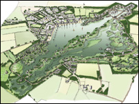 Artist's impression of eco-community plan