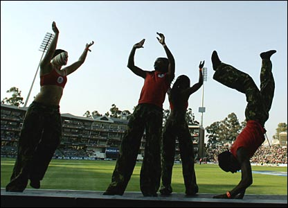 Dancers at the Wanderers ground in Johannesburg