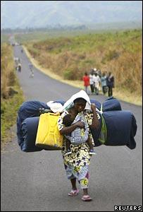 E Kivu woman refugee