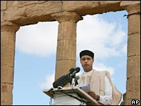 Saif al-Islam Gaddafi launches the project in Cyrene