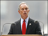 New York Mayor Michael Bloomberg speaks at the ceremony