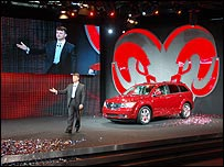 Mike Manning, unveiling the Dodge Journey