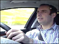 Tom Symonds at wheel