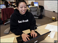 Worker in Facebook office