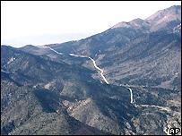 The Wassuk mountain range in Nevada
