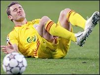 Liverpool defender Fabio Aurelio