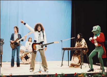 T Rex perform at the BBC