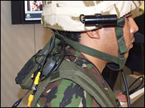 ITT spearnet system on a soldier