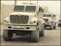 International's Maxxpro MRAP vehicle