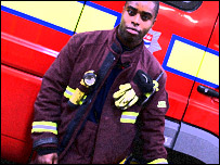 Firefighter and rapper Stephen-remell Coleman