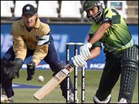 Shahid Afridi in action in Durban