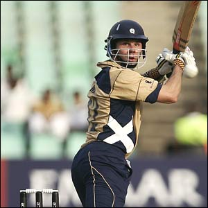 Scotland's Fraser Watts batting against Pakistan