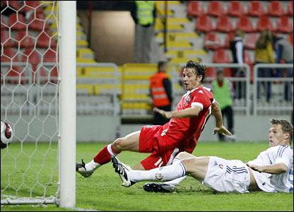 Jan Durica scores an own goal