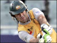 Ricky Ponting in action in Cape Town