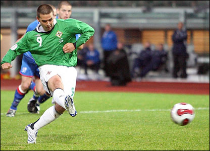 David Healy equalises for Northern Ireland
