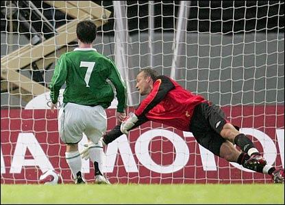 Keith Gillespie scores an own goal
