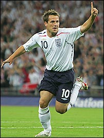 England striker Michael Owen