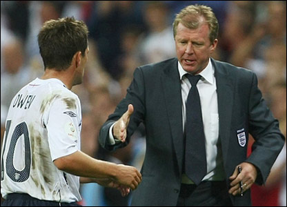 Steve McClaren and Michael Owen