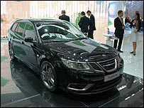 Saab's Turbo X on display in Frankfurt