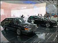 Old and new Saab models on display in Frankfurt