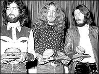 Led Zeppelin en 1970.