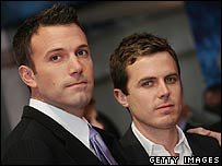 Ben Affleck (l) with brother Casey Affleck