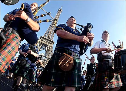 Scotland supporters in Paris