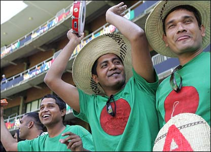 Bangladesh fans in the crowd in Johannesburg