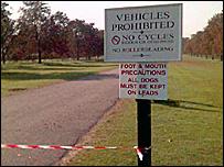 Cordon at Windsor Great Park (pic: Roger Stamp)