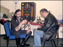 Lemmy, of Motorhead, is interviewed by Jeff Collins