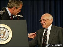 Milton Friedman and George Bush