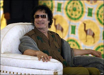 Libyan President Muammar Gaddafi. Libya's leader Muammar Gaddafi