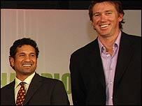 Sachin Tendulkar and Glenn McGrath