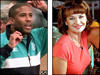 John Barnes and Stephanie Beacham