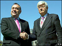 Alex Salmond and Robin Harper