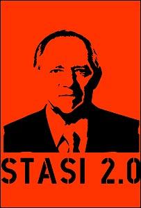 Caricatura del ministro alemán del Interior, Wolfgang Schäuble