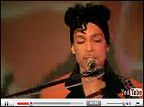Prince video on YouTube