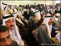 Anbar tribal leaders hold a meeting