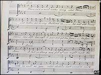 Partitura de música.