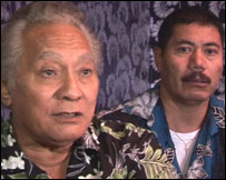 Tokelau officials Ionatana O'Brien and Aukusitino Vitale