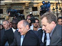 Ron Dennis outside the Paris hearing