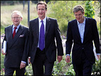 John Gummer, David Cameron and Zac Goldsmith