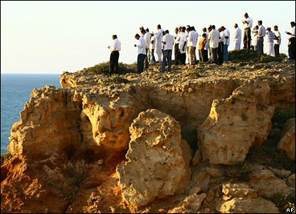 Ultra-Orthodox Jews perform a ritual