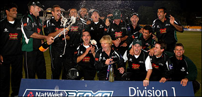 Worcestershire celebrated their first trophy for 13 years
