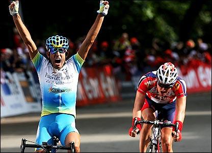 Adrian Palomares celebrates